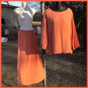 Vtg. Silk 2pc. Designer Outfit